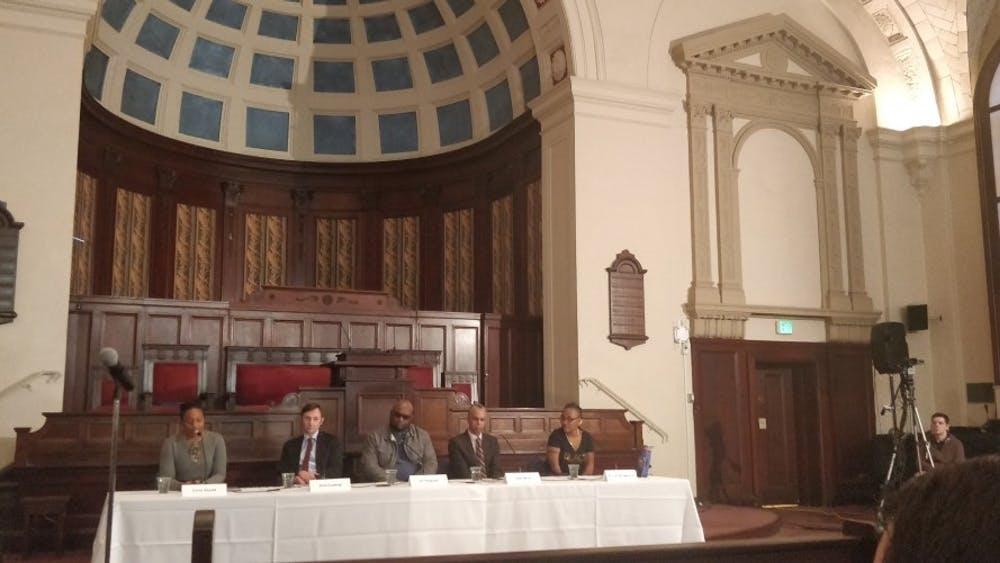 COURTESY OF ANNA GORDON Founder of Baltimore Ceasefire, Erricka Bridgeford was one of the five panelists who spoke.