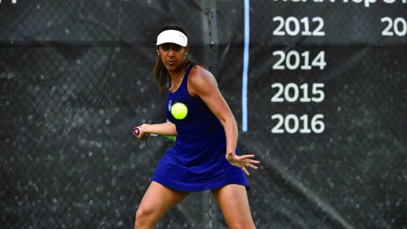 HOPKINSSPORTS.COM Sophomore Anjali Kashyap won Centennial Conference player of the week.