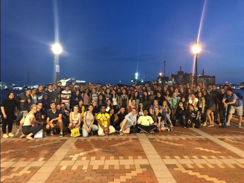 COURTESY OF SADIE GARBER  For O-week, freshmen got to eat out and explore the city at night — a departure from O-Weeks of previous years.