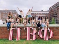 COURTESY OF LAUREN PAULET Sorority Pi Beta Phi hosted Phi Field Day on the Beach last Saturday.