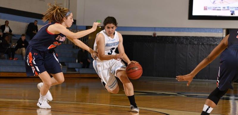 HOPKINSSPORTS.COM Junior guard Lexie Scholtz scored a game-high 26 points and 11 rebounds.
