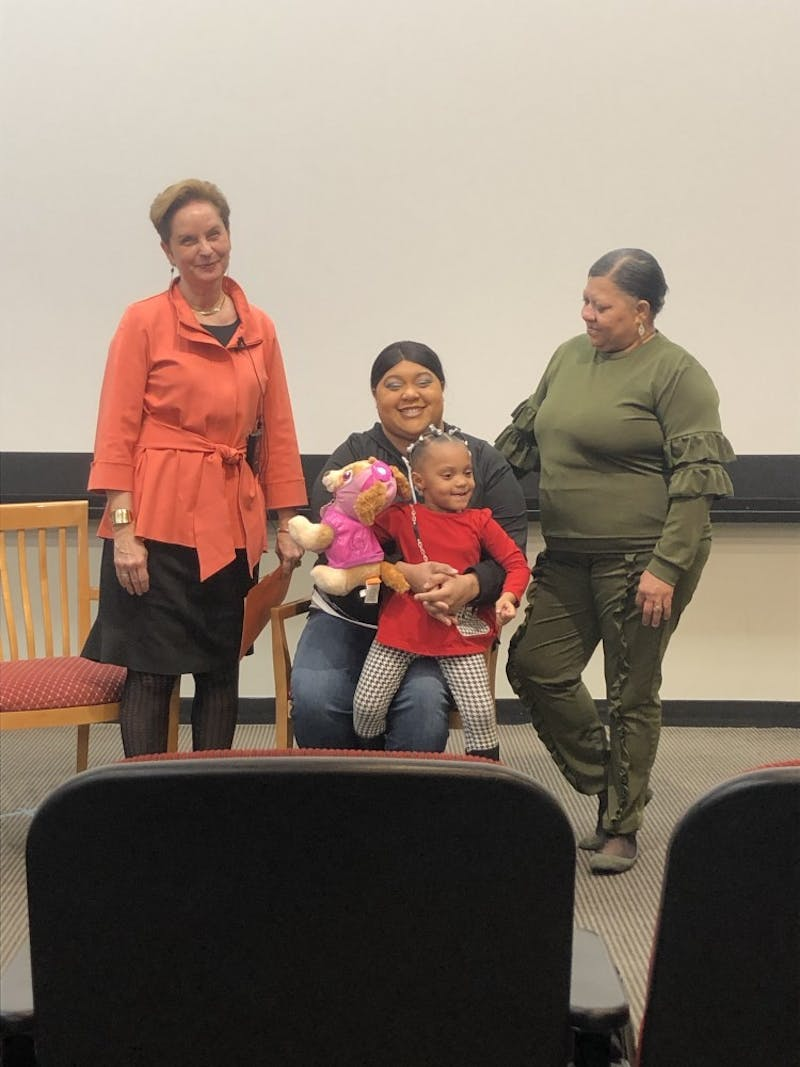 COURTESY OF LAURA WADSTEN Veronica Robinson, great-granddaughter of Henrietta Lacks, spoke at Hopkins this Tuesday.