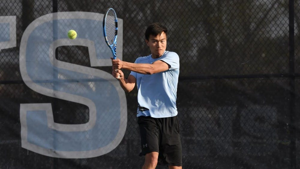 HOPKINSSPORTS.COM Austin Gu was named Conference Player of the Week for his performance this weekend.