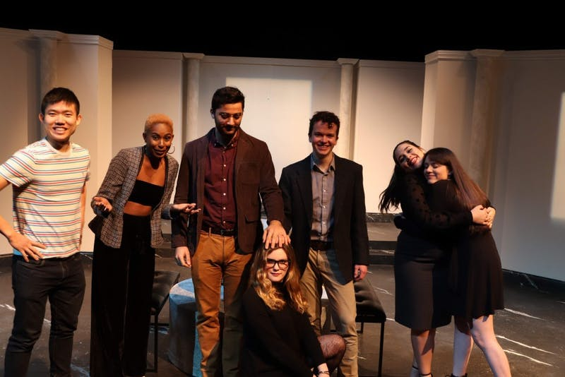 """Courtesy of Laura Oing Redzinski  with the cast of the play she directed with Witness Theater called """"The Importance of Being Terry."""""""