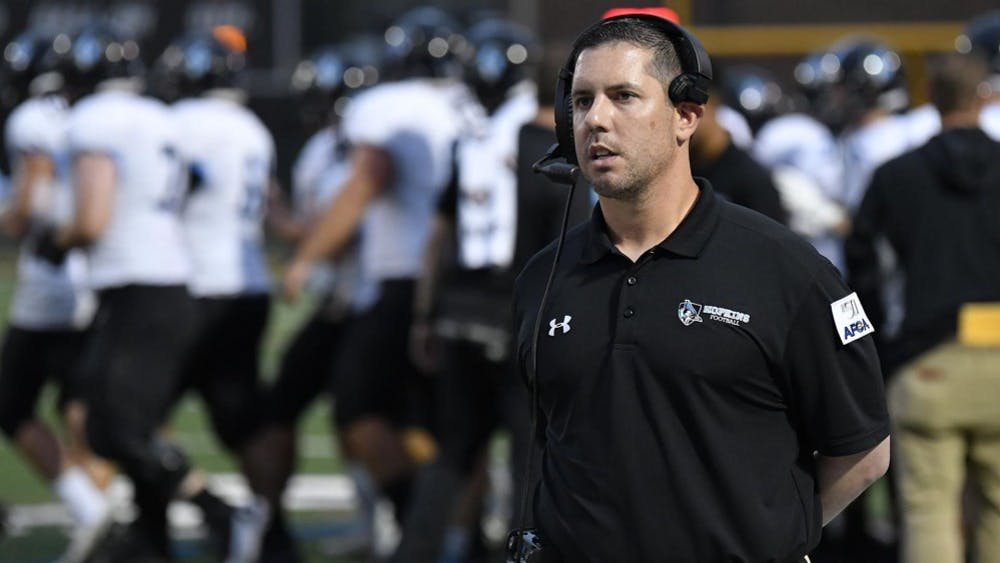 HOPKINSSPORTS.COM Head coach Greg Chimera picked up his first win against Randolph-Macon.