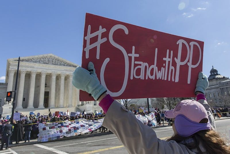 COURTESY OF LORIE SHAULL/CC-BY SA 2.0 The organization Planned Parenthood provides women with health care.