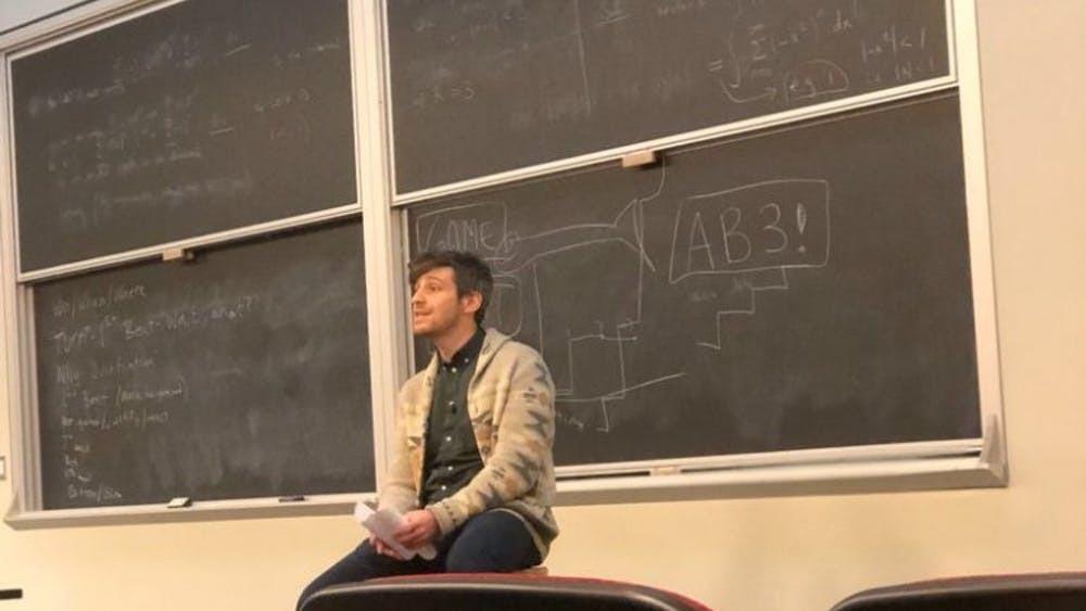 Courtesy of Rudy Malcom Comedian Zack Bornstein gave students tips on getting a career in comedy.