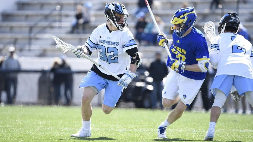 hopkinssports.com  Freshman attackman Joey Epstein was Big Ten Freshman of the Week.