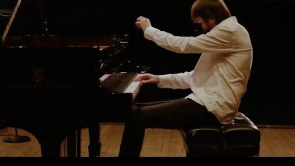 COURTESY OF SARAH JUNG Daniil Trifonov showed off his musical talent to Hopkins students in a virtual recital.