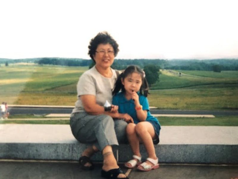 COURTESY OF KELSEY KO Ko was raised by her grandmother in Korea until she was four years old.