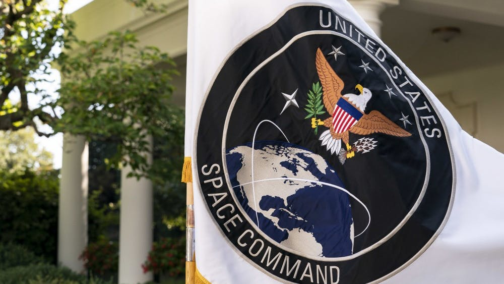 Public domain Trump announced the launch of the U.S. Space Command in August.
