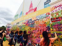 COURTESY OFRACHEL BIDERMAN  The first-ever Landmark Festival featured musical acts like Drake and The Strokes as well as interactive art.