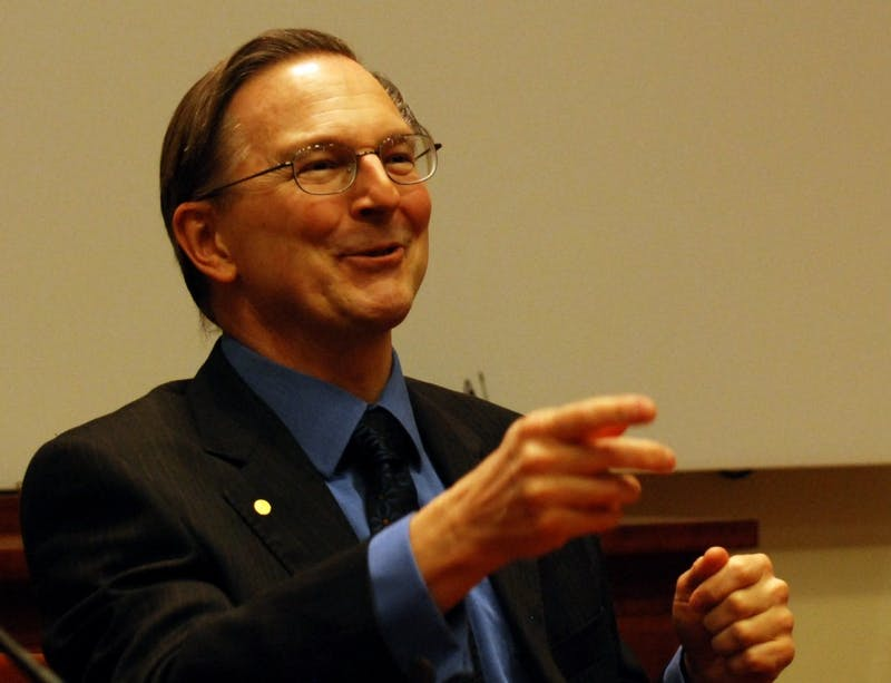 PUBLIC DOMAIN Noble Laureate Jack W. Szostak spoke at the annual John C. and Florence W. Holtz Lecture.