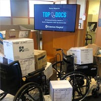 Dr. Ricardo Padua, a member of the Kern Lab, coordinated the collection of supplies that were donated to Emerson Hospital and other local facilities.