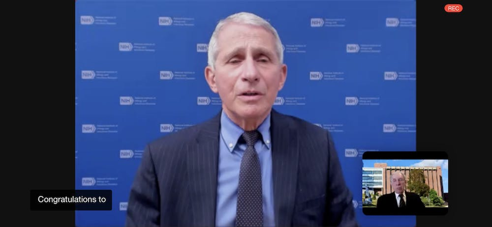 Dr. Anthony Fauci, Director of the National Institute of Allergy and Infectious Diseases and Chief Medical Advisor in the Biden Administration attended the ceremony over Zoom and shared his enthusiasm for new therapeutic techniques.