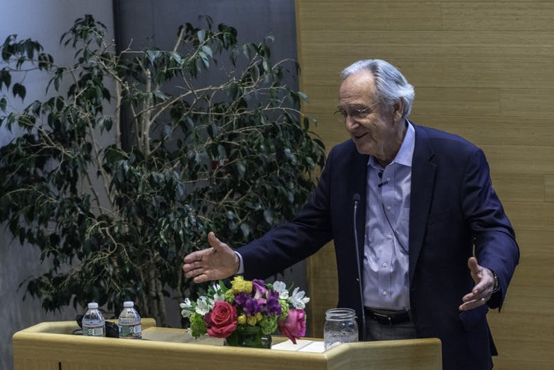 'MEANINGFUL WORK': Former Senator Tom Harkin spoke about his policy work on behalf of Americans with disabilities, including creating a law requiring closed-captioning technology for new TV sets and the landmark Americans with Disabilities Act.