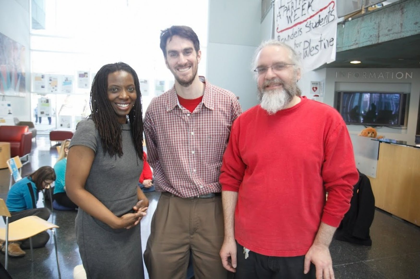 HELPING HANDS: [left to right] PCC counselor Jennifer Brown, Protestant Interfaith Chaplain Matthew Carriker and Technology Services staff member John Saylor are all working together to plan the retreat.