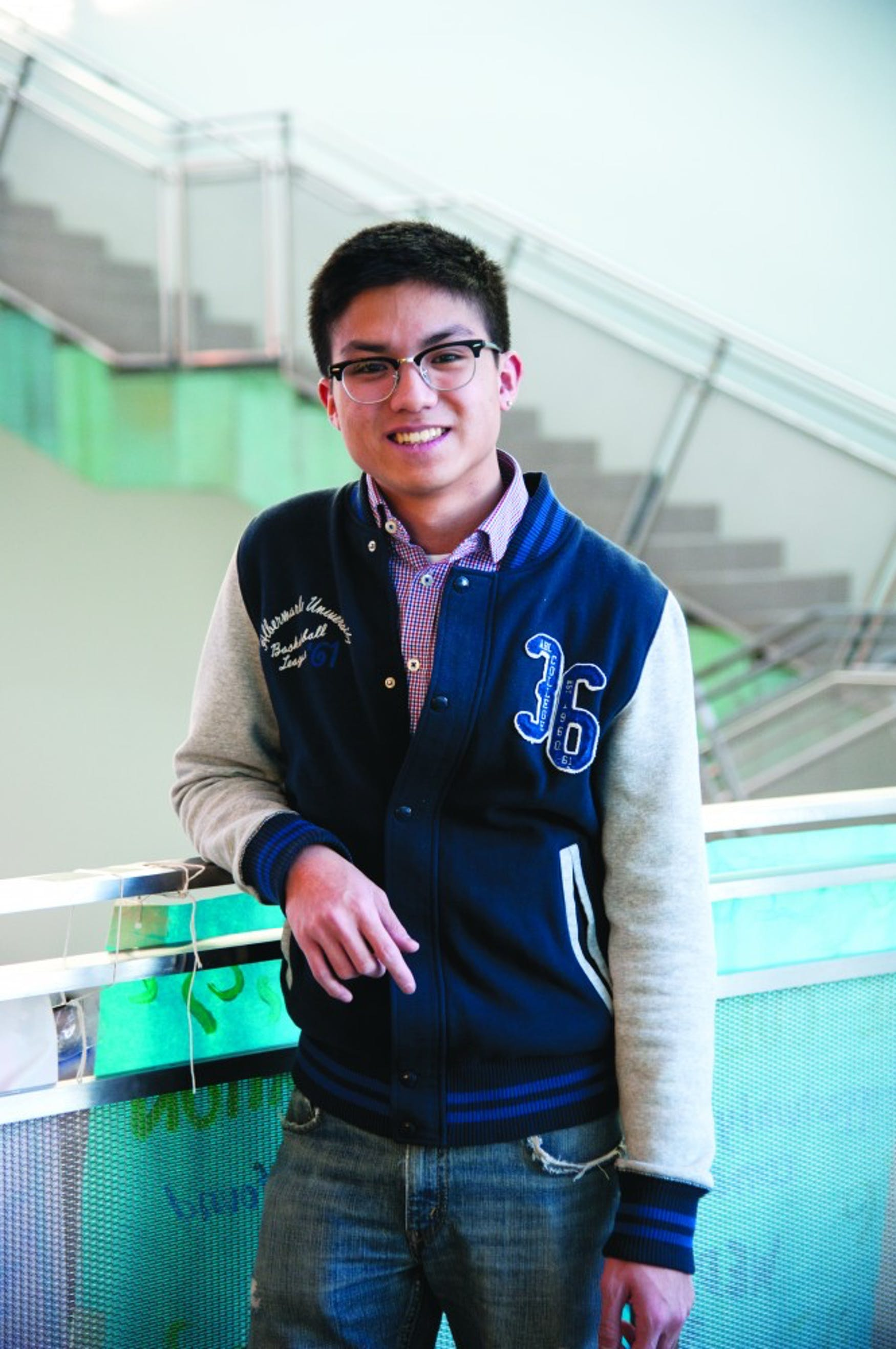 VOICE OF PASSION: Dan Truong '15 feels a personal connection to his campus publication because of his own experience as an Asian-American at Brandeis.