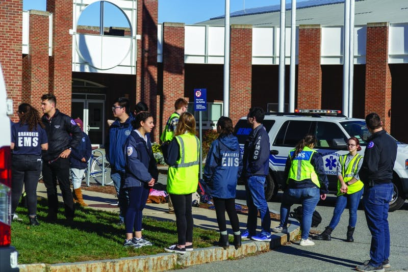 ALL HANDS ON DECK: BEMCo staff were on standby at the Gosman Sports and Convocation Center during the hazardous material incident at the Mods on Friday afternoon.