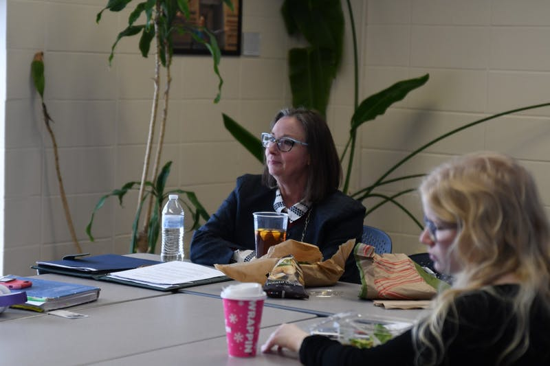 Meeting the Candidates: Andrea Vassar, one of the candidates for director of Student Accessibility Support, said at a meet and greet on Wednesday that she will work to make accommodation meetings less intimidating to students.
