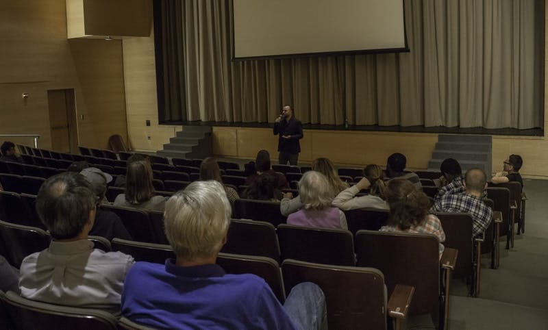 FREE LUNCH SOCIETY: Filmmaker and economist Christian Tod discussed what he sees as the benefits of implementing an unconditional basic income after the screening of his documentary last Thursday.