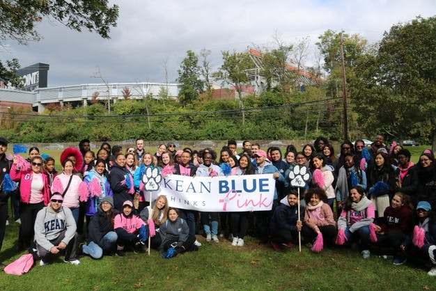 Students Representing Kean University At The Breast Cancer Walk