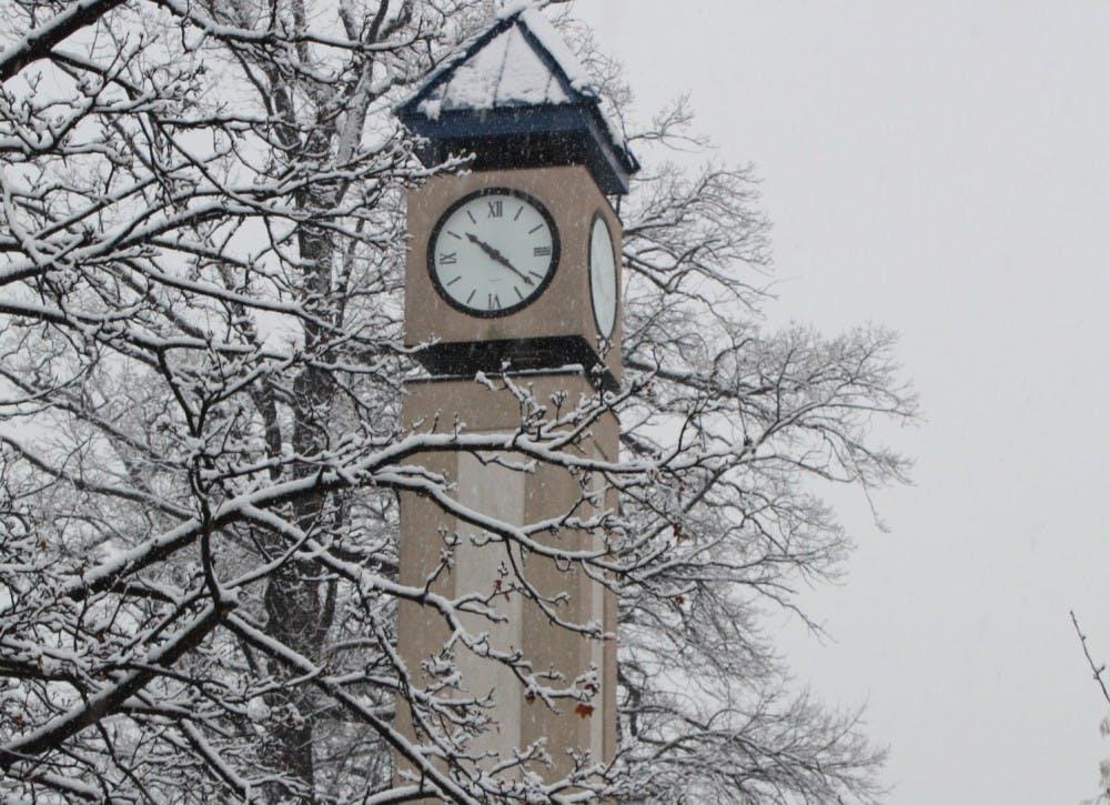 School In The Winter