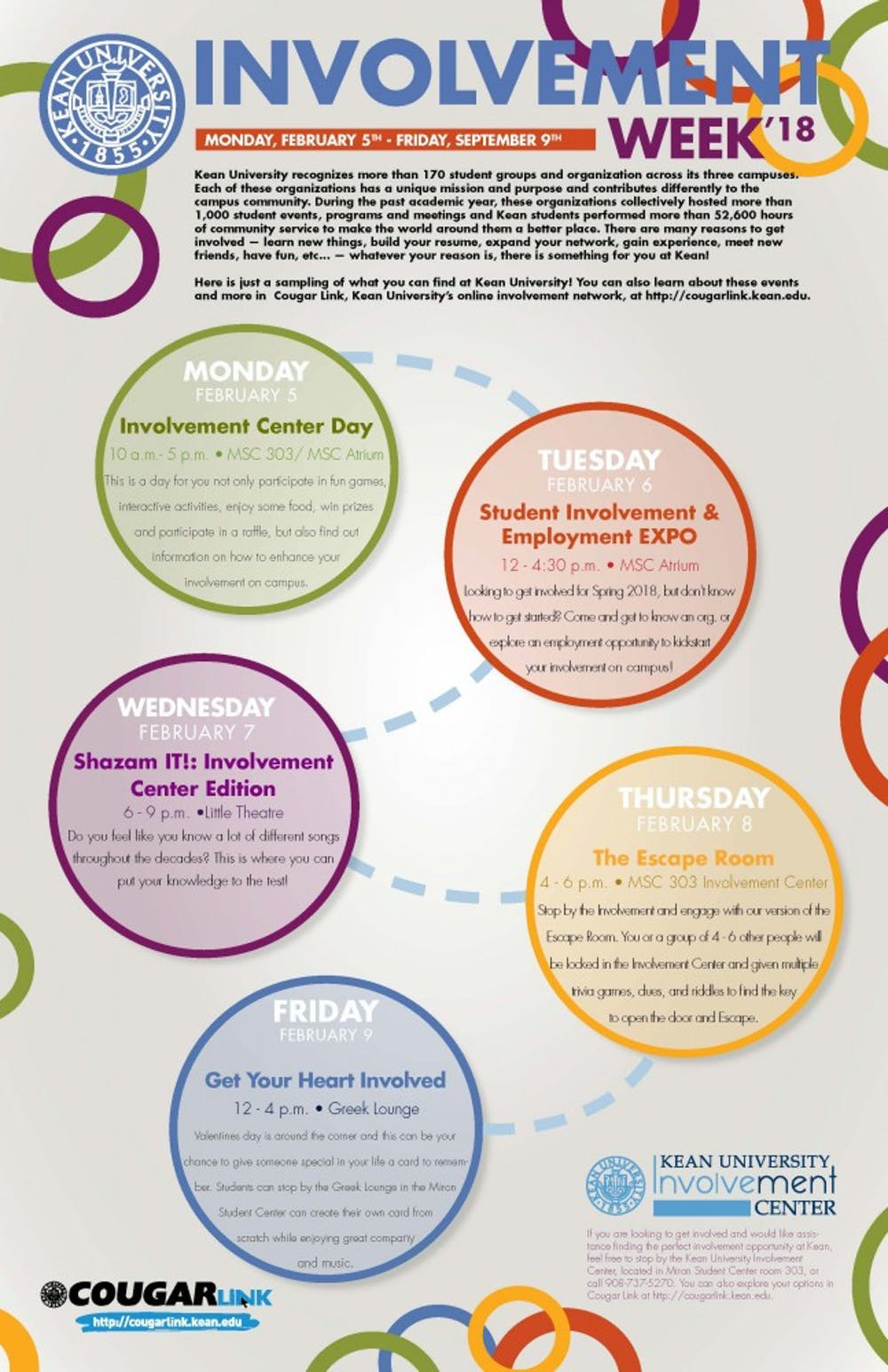 Find Out How To Get More Involved At Kean Involvement Week