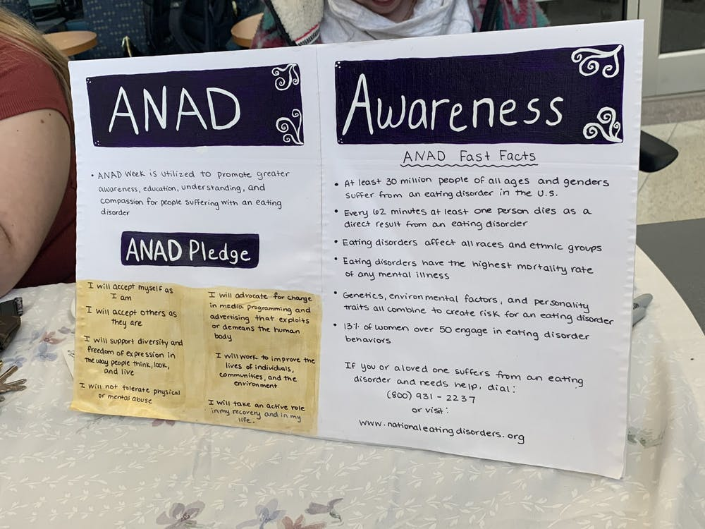 Delta Phi Epsilon hosts ANAD Week