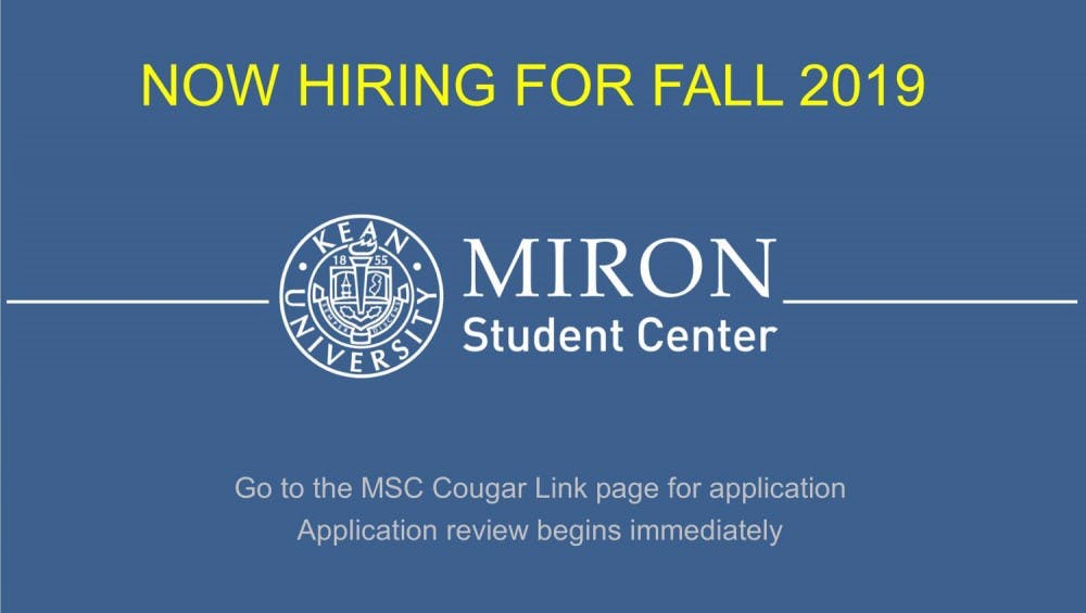 Miron Student Center Is Hiring