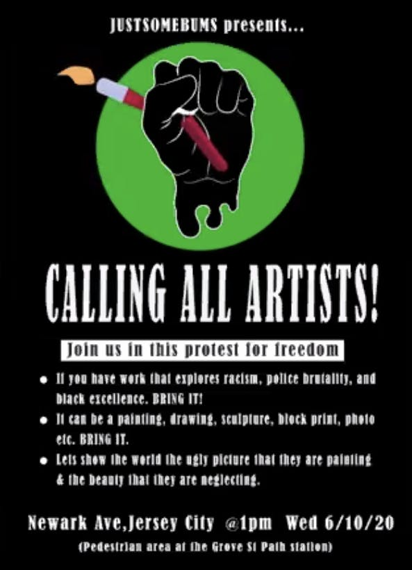 Protest Art: Call for Art Poster 2020.png