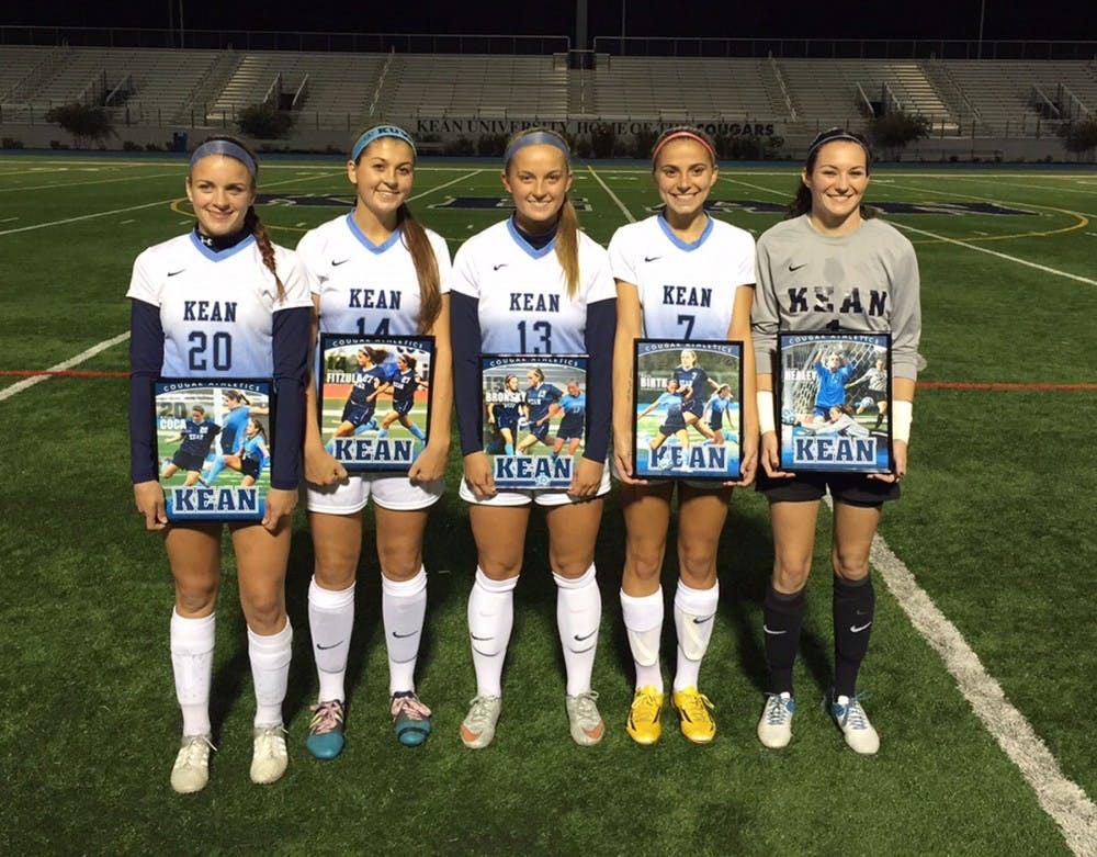 Celebrating Kean's Fall Senior Athletes