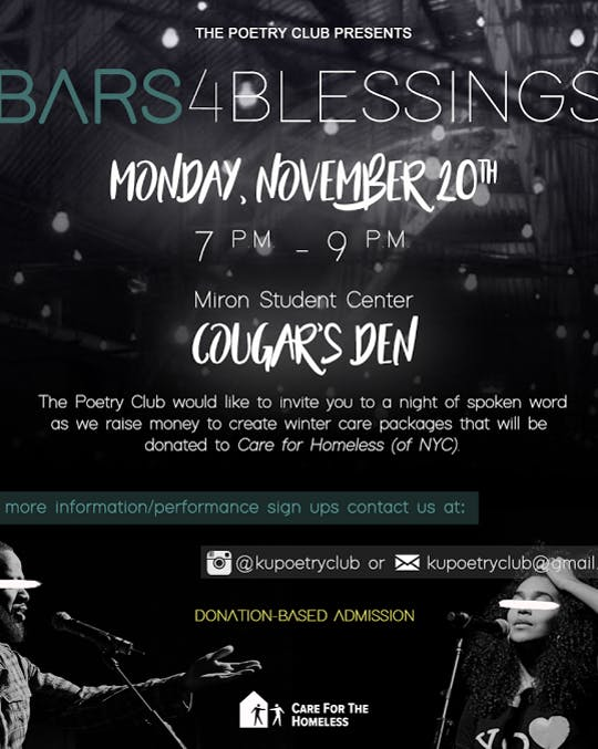 The Poetry Club Presents Bars for a Blessing