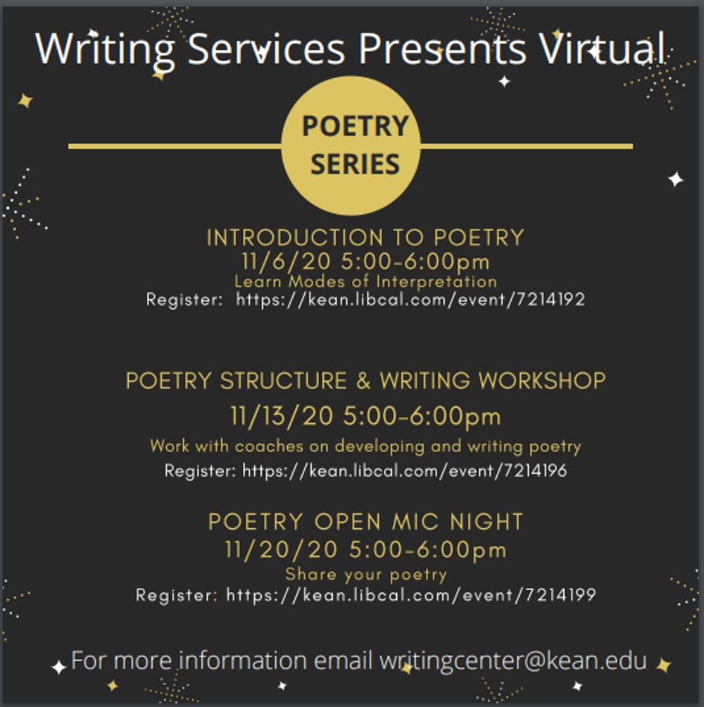 Kean Writing Center: Virtual Poetry Series