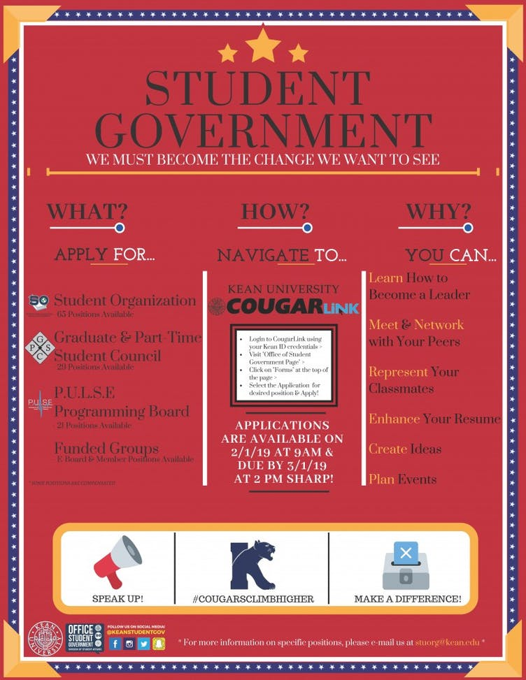 Student Government Elections Flyer 2019
