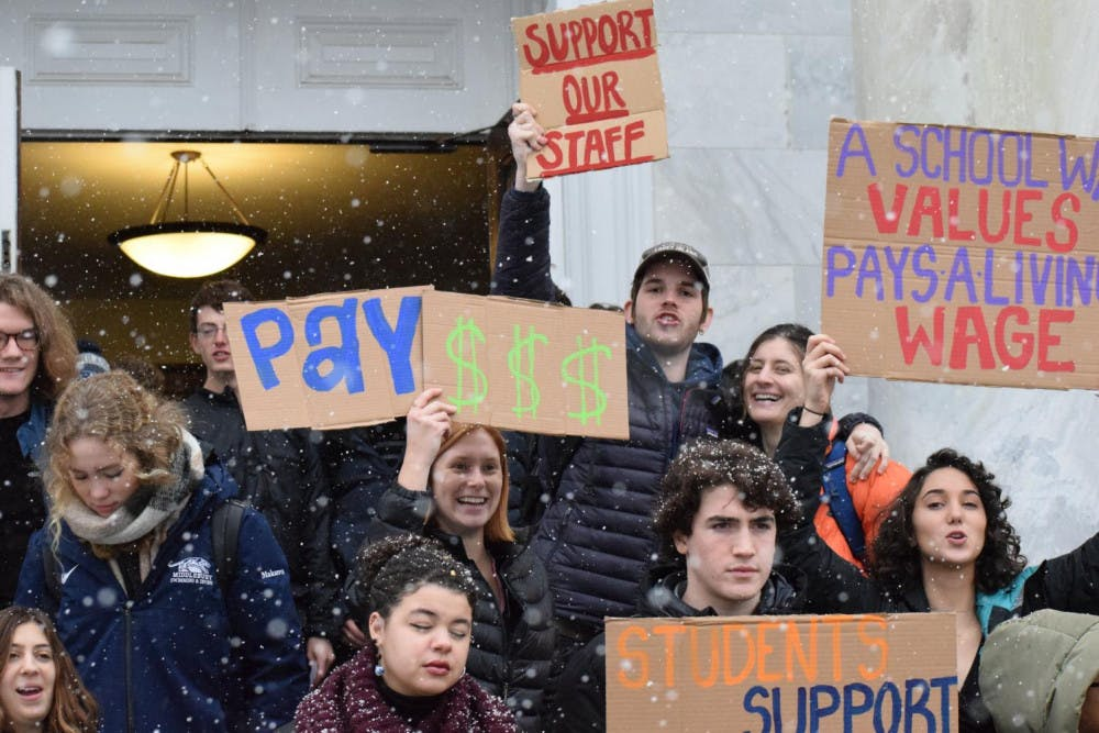 """According to College Landscape Horticulturalist and Staff Council President Tim Parsons, student organizing and Campus coverage were instrumental in getting the administration to prioritize the issue of staff wages. <span class=""""photocreditinline""""><a href=""""https://middleburycampus.com/staff_profile/benjy-renton/"""">BENJY RENTON</a></span>"""