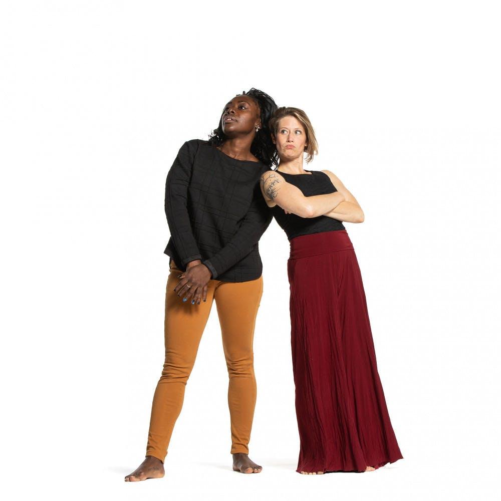 "<span class=""photocreditinline"">Courtesy of JHsu Media</span> Associate Professor of Dance Christal Brown (left) alongside Visiting Assistance Professor of Dance Lida Winfield (right)"