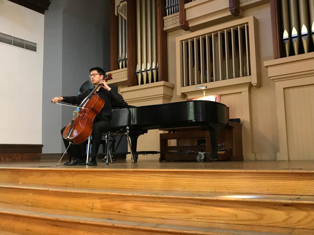 """Caption: Zhihao Wu plays an emotional and expressive version of """"Cello Suite in E-flat Major"""" by Johann Sebastian Bach on cello."""