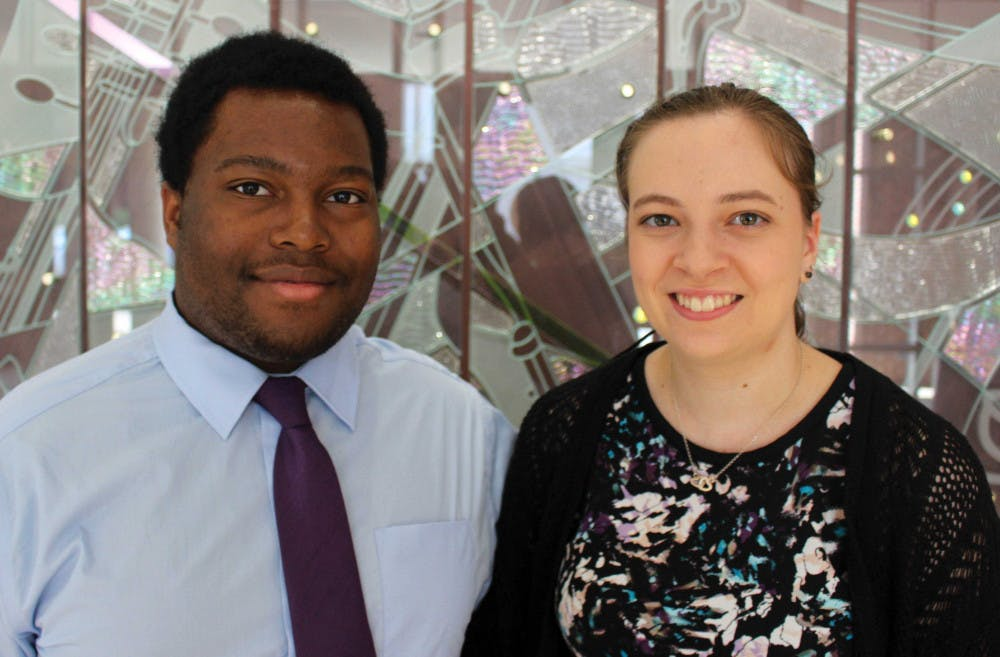 Denzel Washington (left) and Bethany Moss (right) will both feature their individual compositions at the upcoming Student Composers Recital.