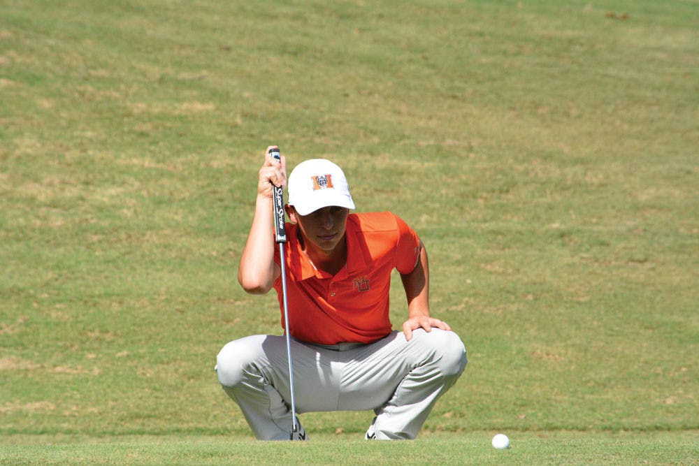 Spencer Ball didn't start playing golf until his freshman year of high school. In his first season on the Mercer Golf Team, he has finished two tournaments in the Top 20.