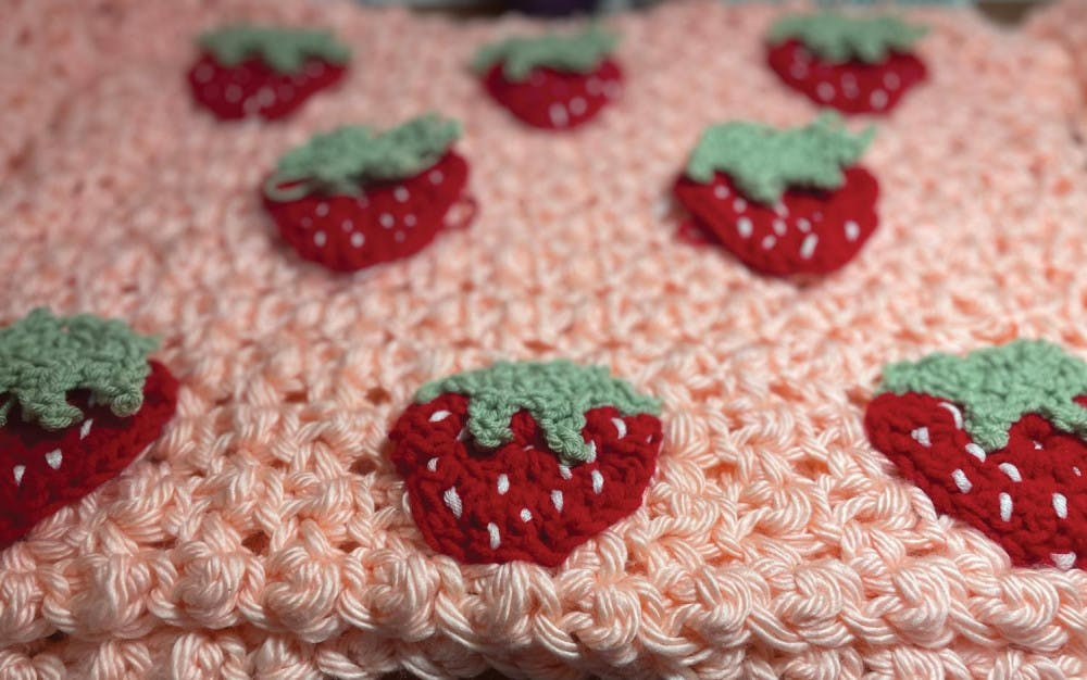 You can show off your new artistic skills by creating wearable items like this crocheted sweater.