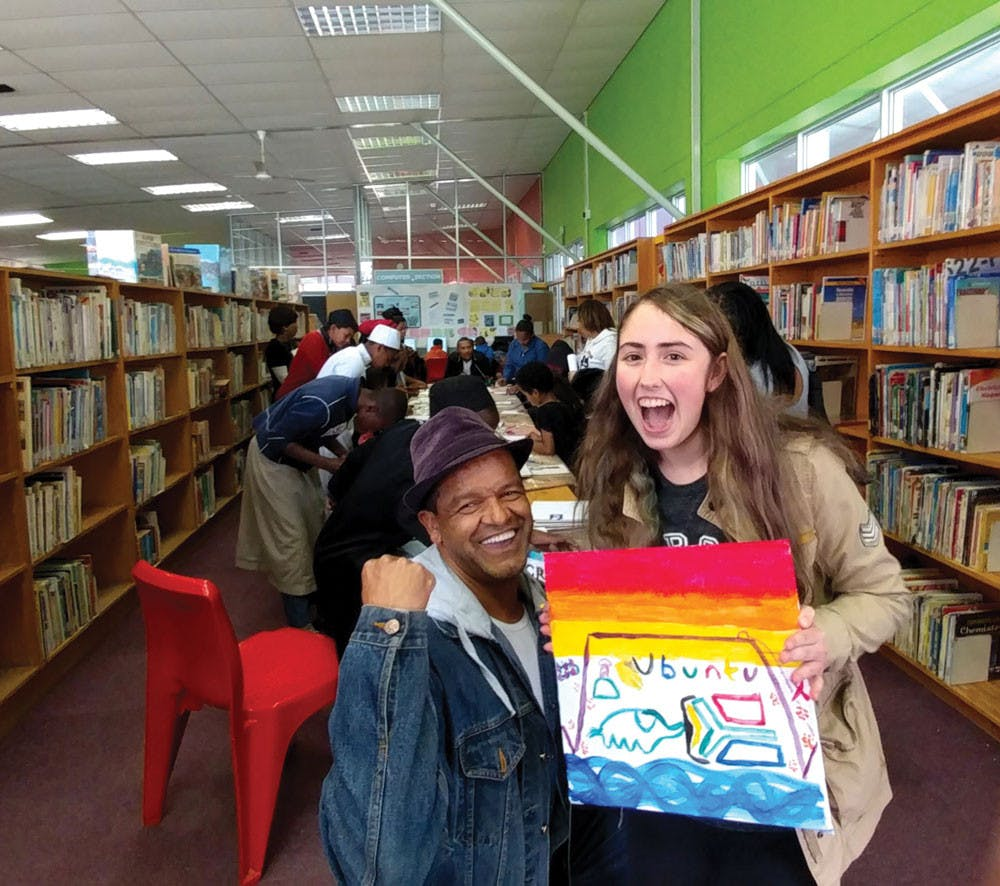 Mercer Sophomore Brianna Levin during her summer internship at a local library in Cape Town, South Africa.
