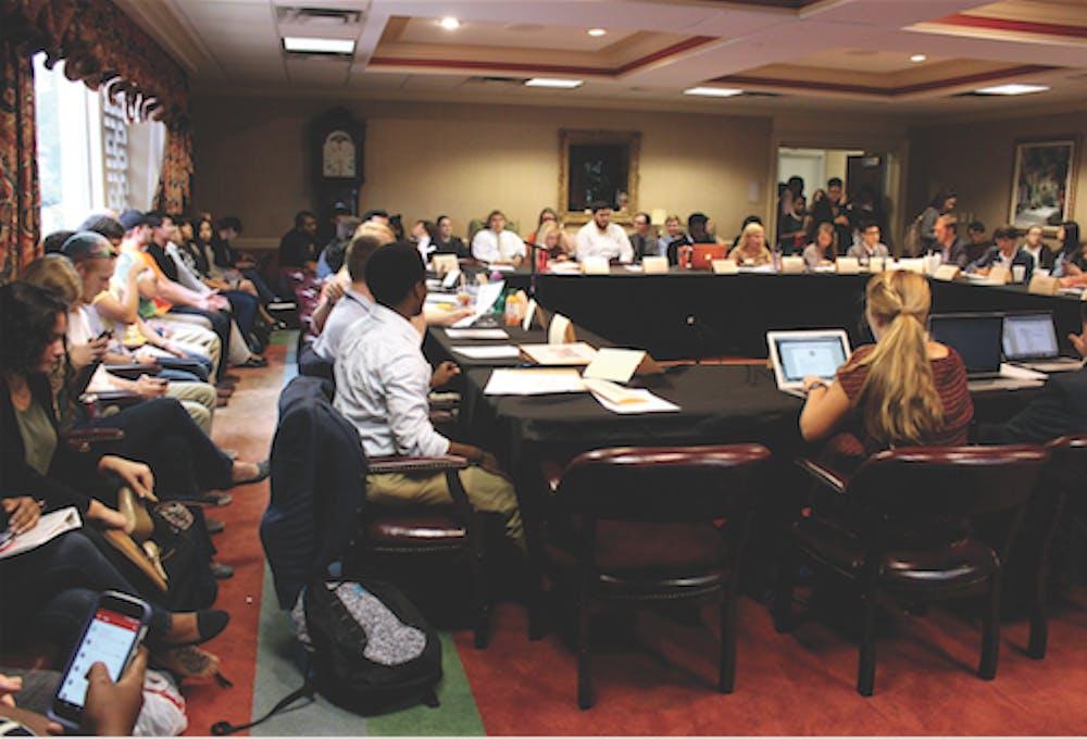 Student organizations representatives come to the SGA senate meeting. Photo by Jenna Eason.