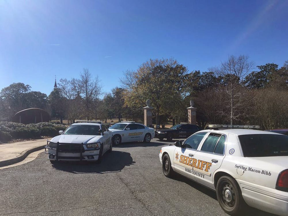 Both the Bibb Sheriff's Office and Mercer Police were on the scene after an armed robbery took place in Tattnall Square Park Jan. 14.