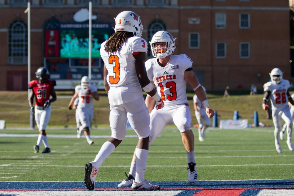 The Mercer Football game at Samford over the weekend. Photo provided by Mercer Athletics.