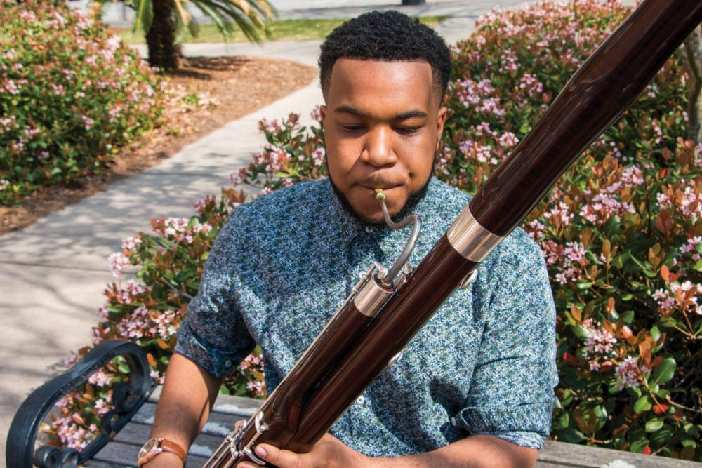 Marlon Moody plays with the band despite not being a music major.