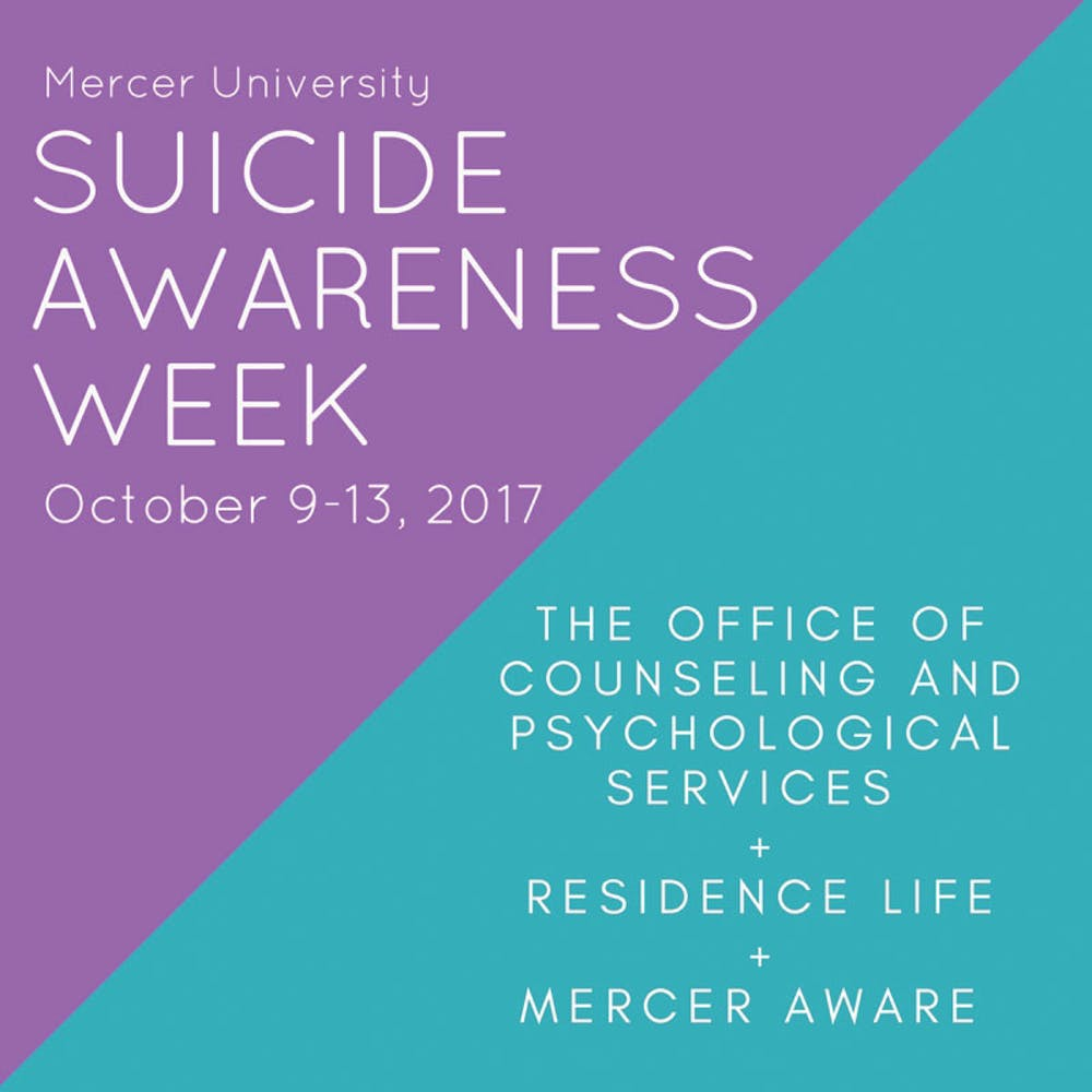 The Counseling and Psychological Services office is hosting a Suicide Awareness Week that will be dedicated to promoting education about suicide prevention, how to get help and how to help others who may be in distress. The purple and turquoise ribbon symbolizes suicide awareness and prevention.