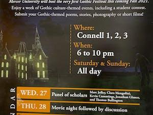Mercer Gothic Festival flyer
