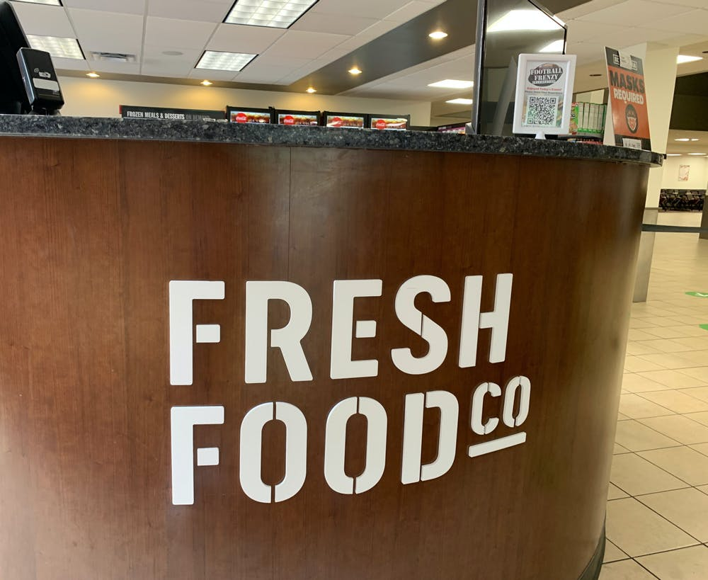 <p>The Fresh Food Co., which students more frequently refer to as &quot;The Caf,&quot; in the Connell Student Center. </p>
