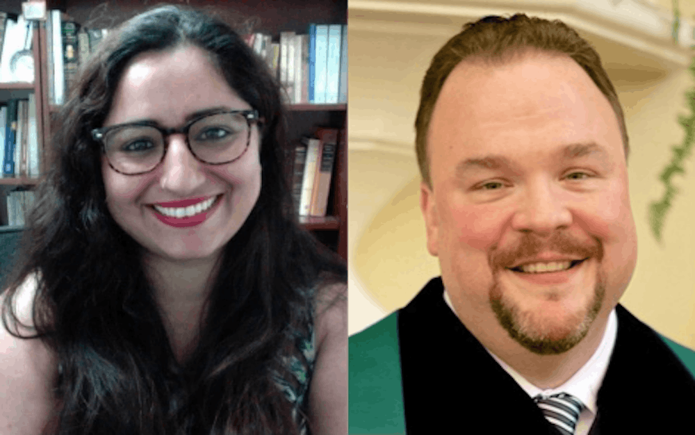 <p>Left to right, Shehnaz Haqqani and Rev. Jake Hall. Haqqani and Hall will be featured speakers at Storytellers Macon on Tuesday, Sept. 14. </p>